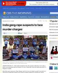 India gang rape suspects to face murder charges: CBS News